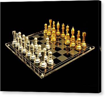 Chess Canvas Print by Michael Peychich