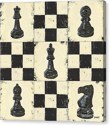 Chess Pieces Canvas Print by Debbie DeWitt