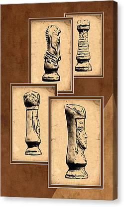 Chess Pieces Canvas Print by Tom Mc Nemar