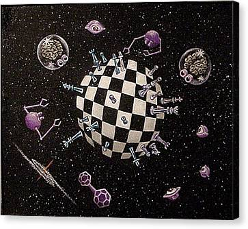 The Void Canvas Print - Chess Planet by Hank Roll