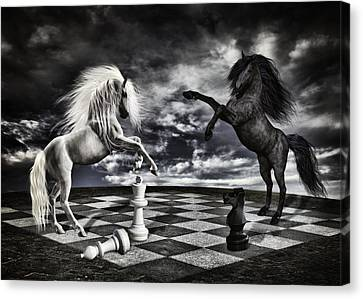 Chess Players Canvas Print by Mihaela Pater