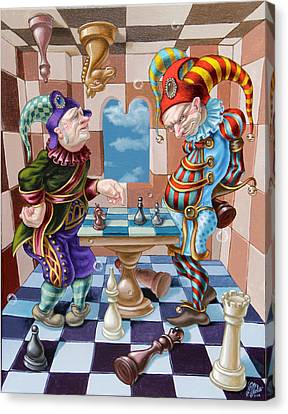Chess Players Canvas Print by Victor Molev