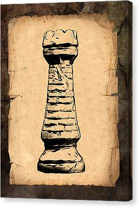 Chess Rook Canvas Print by Tom Mc Nemar