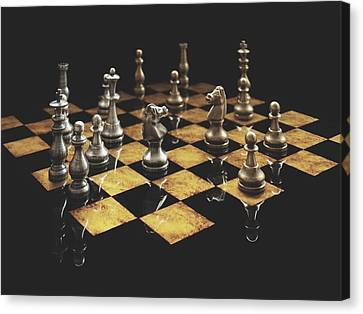 Chess The Art Game Canvas Print