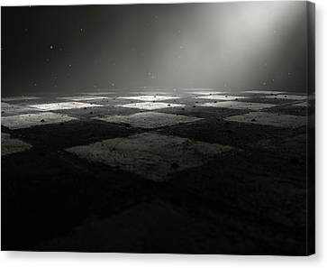 Chessboard Dark Canvas Print