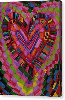Chessire Heart Canvas Print by Brenda Adams