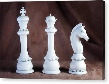 Chessmen V Canvas Print by Tom Mc Nemar