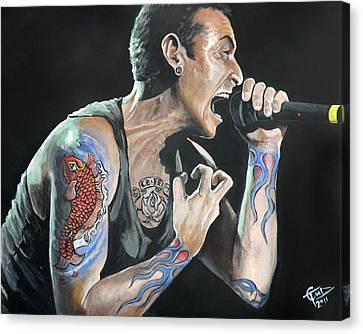 Chester Bennington Canvas Print