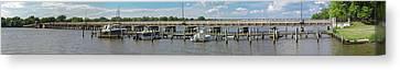 Chester River Bridge - Pano Canvas Print by Brian Wallace