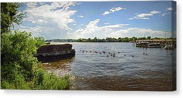 Chester River Pano - Chestertown Md Canvas Print by Brian Wallace