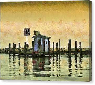 Chestertown Gas Dock Canvas Print
