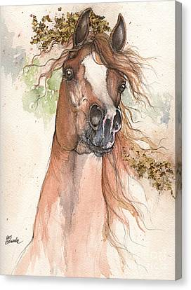 Chestnut Arabian Horse 2015 05 30 Canvas Print by Angel  Tarantella