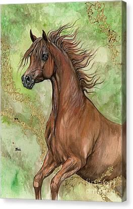 Chestnut Horse Canvas Print - Chestnut Arabian Horse 2016 03 21 by Angel Ciesniarska