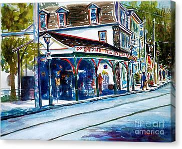 Chestnut Hill Station Canvas Print by Joyce A Guariglia