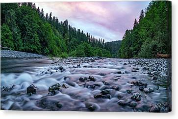 Canvas Print featuring the photograph Chetco River Sunset 2 by Leland D Howard