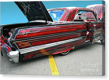 Canvas Print featuring the photograph Chev Impala 1 by Bill Thomson