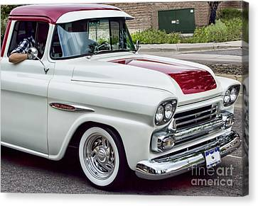 Red Chev Canvas Print - Chev Pick-up by Steven Parker