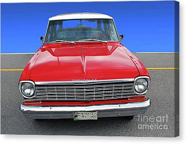 Canvas Print featuring the photograph Chev Wagon by Bill Thomson