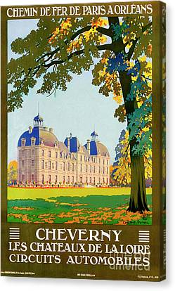 Cheverny, French Travel Poster Canvas Print by Pablo Romero