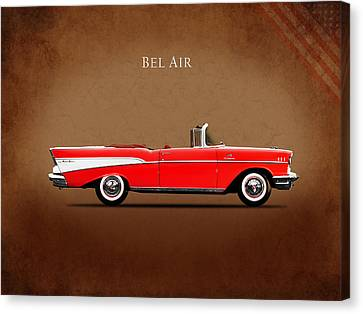 Convertibles Canvas Print - Chevrolet Bel Air Convertible 1957 by Mark Rogan