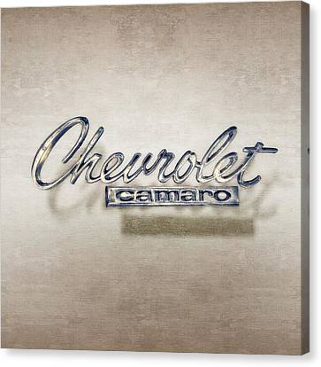 Chevrolet Camaro Badge Canvas Print by YoPedro
