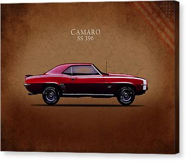 Chevrolet Camaro Ss 396 Canvas Print by Mark Rogan