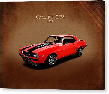 Chevrolets Canvas Print - Chevrolet Camaro Z 28 by Mark Rogan