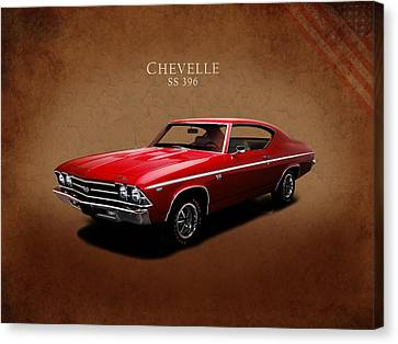 Chevrolet Chevelle Canvas Print - Chevrolet Chevelle Ss 396 by Mark Rogan