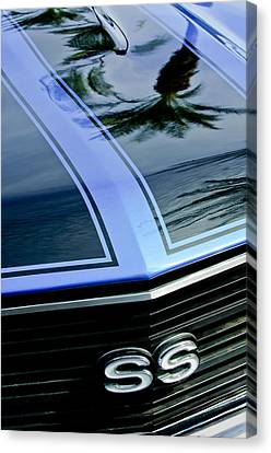 Grill Canvas Print - Chevrolet Chevelle Ss Grille Emblem 3 by Jill Reger