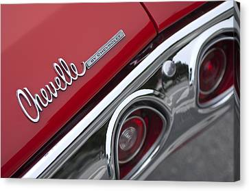 Chevrolet Chevelle Ss Taillight Emblem 2 Canvas Print by Jill Reger