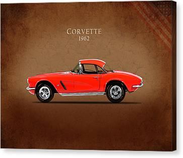 Chevrolet Corvette 1962 Canvas Print by Mark Rogan