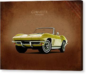 Chevrolets Canvas Print - Chevrolet Corvette 1965 by Mark Rogan