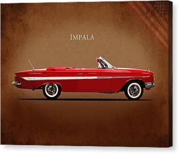 Chevrolet Impala Ss 409 Canvas Print by Mark Rogan
