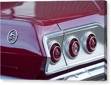 Chevrolet Impala Ss Taillight 2 Canvas Print by Jill Reger