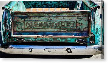 Chevrolet Truck Tail Gate Emblem -0839c Canvas Print