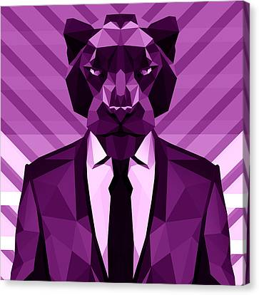 Chevron Panther Canvas Print