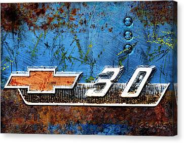 Chevy 3.0 Photomontage Canvas Print by Carol Leigh