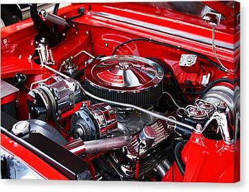 Chevy 350 Canvas Print by Paul Mashburn