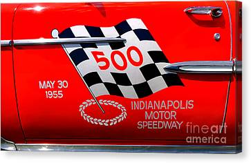 Chevy Bel Air Indianapolis Pace Car Canvas Print by Olivier Le Queinec