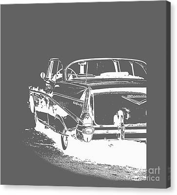 Chevy Belair Tee Canvas Print by Edward Fielding