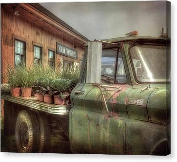 Canvas Print featuring the photograph Chevy C 30 Pickup Truck - Colby Farm by Joann Vitali