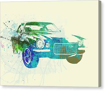Chevy Camaro Watercolor Canvas Print