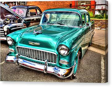 Chevy Cruising 55 Canvas Print