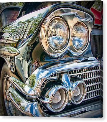 Chevy Impala 1958 Canvas Print by Andreas Freund