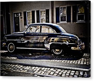 Chevy In Black Canvas Print