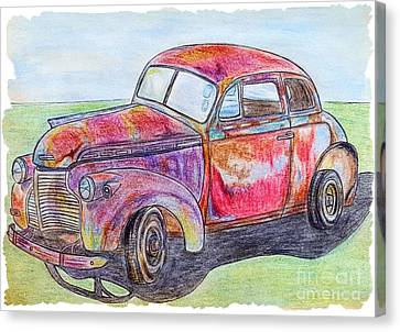 Chevy Canvas Print by Lisa Pfeiffer