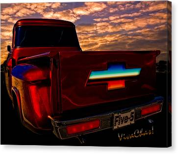 Chevy Pu Five-5 Too Pretty To Drive Canvas Print by Chas Sinklier