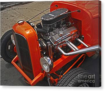 Chevy Small Block Canvas Print by Curt Johnson