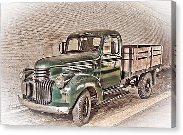 Old Trucks Canvas Print - Chevy Truck by Ches Black