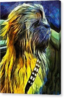 Chewbacca Dog - Pa Canvas Print by Leonardo Digenio